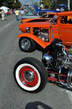 Row of Street Rods at Doo Wop