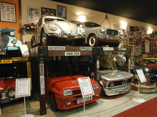 Shelves of Classic Cars