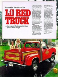 Wheelstanding Pickups And The Dodge Lil' Red Truck D-150