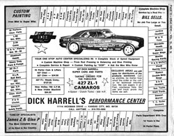 Dick Harrell - Nationally Respected Nitro Funny Car Racer