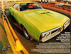 1967 GTX muscle car memories; Roadrunners, Super Bees and lots more