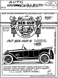 1917 Ben-Hur Six