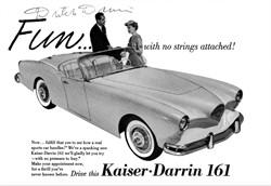 Kaiser Darrin With A Willys Knight Six Cylinder Engine