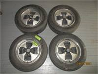Fiat X1/9 wheels and tires set of 4