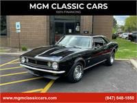 1967 Chevrolet Camaro BLACK NUMBERS MATCHING 327 AUTO AC-NICE PAINT-