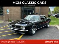 1967 Chevrolet Camaro BLACK NUMBERS MATCHING 327 AUTO AC-NICE PAINT-