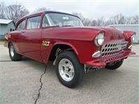 """1955 Chevrolet 150 Two Door Sedan """"Showtime"""" Gasser"""