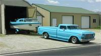 FORD F-100 and boat combo