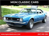 1968 Chevrolet Camaro SS LEMANS BLUE 4 SPEED