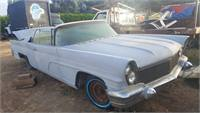 1960 lincoln continental mk V convertible with very rare factory AC-SAPPHIRE