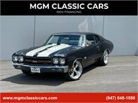 1970 Chevrolet Chevelle 454  TH400  12b  TUXEDO BLACK COWL INDUCTION
