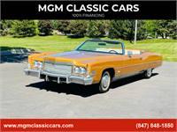 1974 Cadillac Eldorado WHITE LEATHER GOLD PAINT