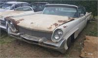 1958 lincoln continental mkIII convertible--WHITE-for restoration