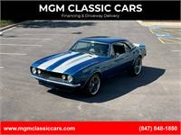 1967 Chevrolet Camaro VIPER BLUE WHITE RALLY 4 SPEED FAST WATCH VIDEO