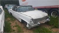 1958 lincoln continental mk iii convertible.--stripping out for parts